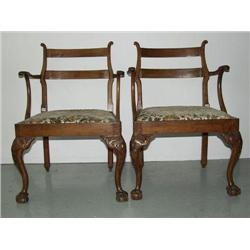 Colonial Jamaican Georgian Armchairs