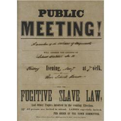 Fugitive Slave Law Broadside