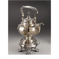 A Gorham Martele Silver Hot Water Kettle