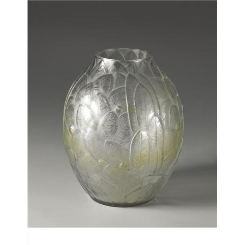 Hunabelle Molded And Frosted Glass Vase