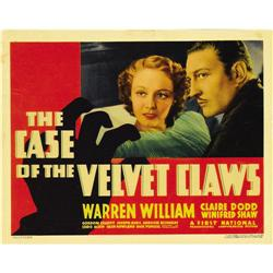 The Case of the Velvet Claws (Warner Brothers, 1936). T