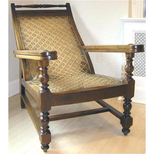- Antique Anglo-Indian Planter's Chair #1194858
