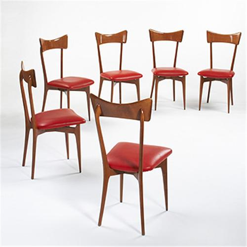 Ico Parisi Dining Chairs, Set Of Six Co