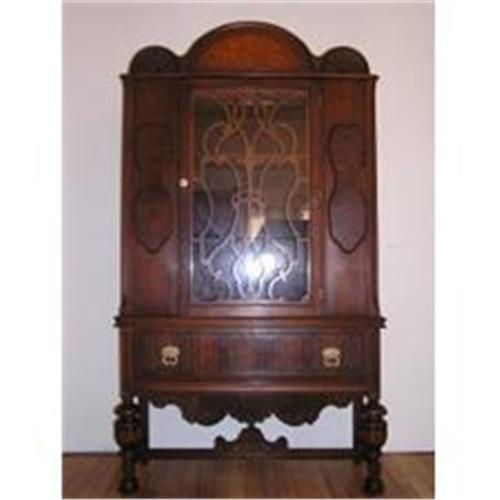 Antique Jacobean Style China Cabinet #1263354