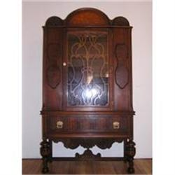 antique jacobean style china cabinet 1263354
