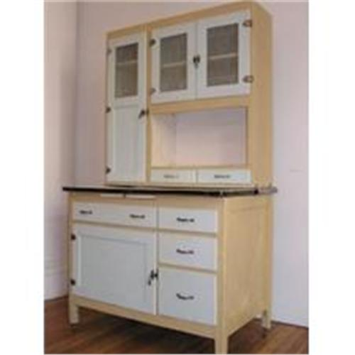 Painted Hoosier Cabinet with Porceline Pullout #1297826