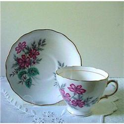 Colclough Cup &amp; Saucer WILD FLOWERS #1248604