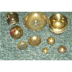 Box Lot Old Brass Smoking Items #1252638