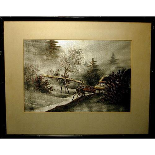 Painting In Silk Embroidery Of Japanese 1249547