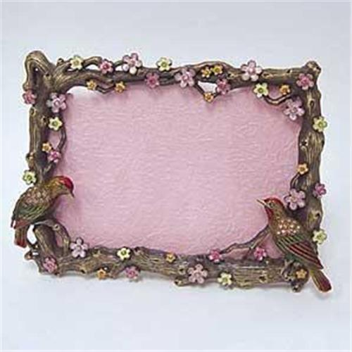 LOVE BIRD FRAME 24K GOLD AUSTRIAN CRYSTAL 3D BACK