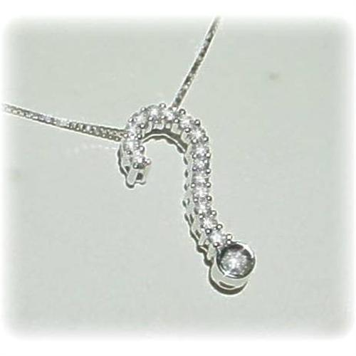 14kwg gold diamond question mark pendant necklace aloadofball Image collections