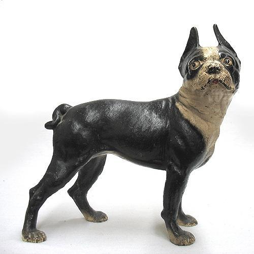 - Cast Iron Boston Terrier Door Stop; Ear