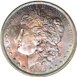 1885 $1 Morgan''s Lettered Edge Silver Dollar, Judd-17