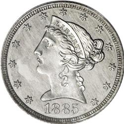 1885 $5 Liberty Head Half Eagle, Judd-1754, Pollock-19