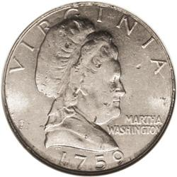 1965 10C (1759 dated) Martha Washington Dime-Sized Med
