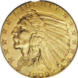 1909-O $5 MS62 PCGS. The opportunity to bid on a Mint