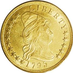 1795 $10 13 Leaves MS63 PCGS. Breen 2-A, Breen-6830, T