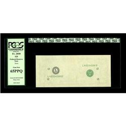Fr. ?-L $20 ? Federal Reserve Note. PCGS Gem New 65PPQ.