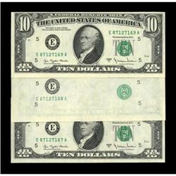 Fr. 2024-E $10 1977A Federal Reserve Notes. Choice Cris