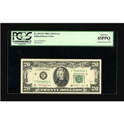 Fr. 2076-F $20 1988A Federal Reserve Note. PCGS Gem New