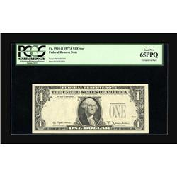 Fr. 1910-B $1 1977A Federal Reserve Note. PCGS Gem New