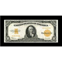Fr. 1173a $10 1922 Gold Certificate Choice About New. A