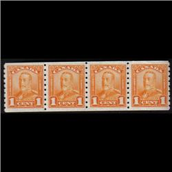 #160 VF-NH RARE COIL STRIP OF 4
