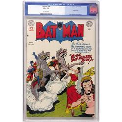 Batman #56 (DC, 1949) CGC VF+ 8.5 Off-white pages. If t