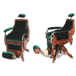 Fabulous Victorian carved 1800s barber chair  #1317462