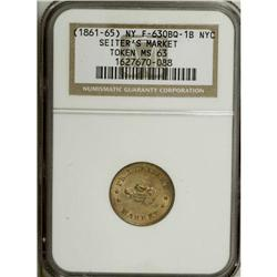 Three Seiter''s Market, New York, NY Tokens NGC
