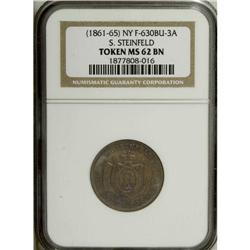 Undated S. Steinfeld, New York, NY, MS62 Brown NGC, Ful