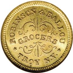 1863 Robinson and Ballou, Grocers, Troy, NY, Fuld-NY-89