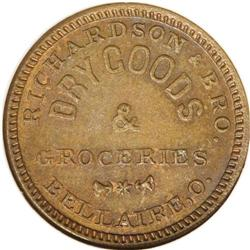 1863 Richardson and Bro. Dry Goods, Bellaire, OH, Fuld-