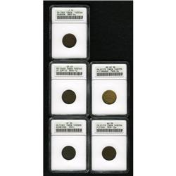 Five Civil War Store Cards ANACS