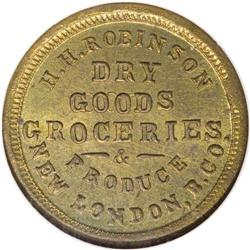 1863 H.H. Robinson, Grocer, New London, Butler County,