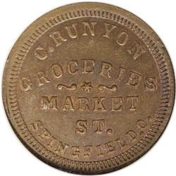 1863 C. Runyon, Grocer, Springfield, OH, Fuld-OH-830G-1