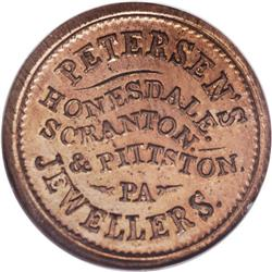 1863 Petersen''s Jewellers, Honesdale, PA, Fuld-PA-464A