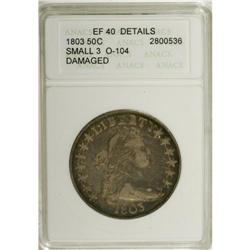 1803 50C Small 3--Damaged--ANACS. XF Details. O-104, R