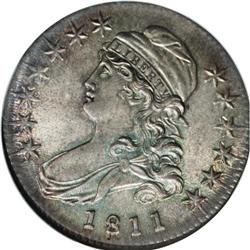 1811 50C Small 8 MS65 NGC. O-108a, R.2. This is a comm