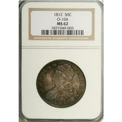 1812 50C MS62 NGC. O-104, R.1. Rich blue-green borders