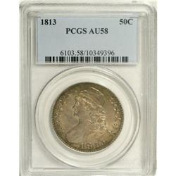 1813 50C AU58 PCGS. O-103,R.2. Exquisitely struck thro