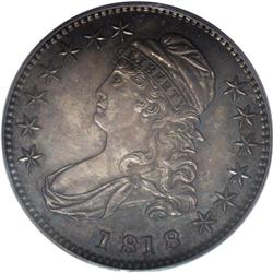 1818 50C MS60 PCGS. O-113, R.3. The date is spaced 1 8