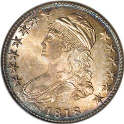 1818 50C MS64 NGC. O-107, R.1. Well struck beneath mot