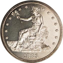 1883 T$1 PR64 NGC. With a proof-only mintage of just 9