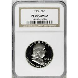 1952 50C PR66 Cameo NGC. Deeply reflective with only s