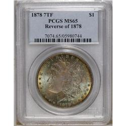 1878 7TF S$1 Reverse of 1878 MS65 PCGS. This is a high