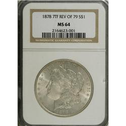 1878 7TF S$1 Reverse of 1879 MS64 NGC. Choice and bold