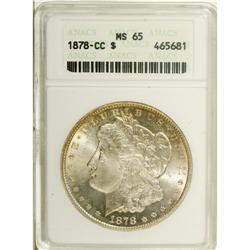 1878-CC S$1 MS65 ANACS. This highly lustrous Gem has s