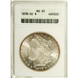 1878-CC S$1 MS65 ANACS. A boldly struck and frosty Car