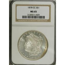 1878-CC S$1 MS65 NGC. This highly lustrous Gem has fla